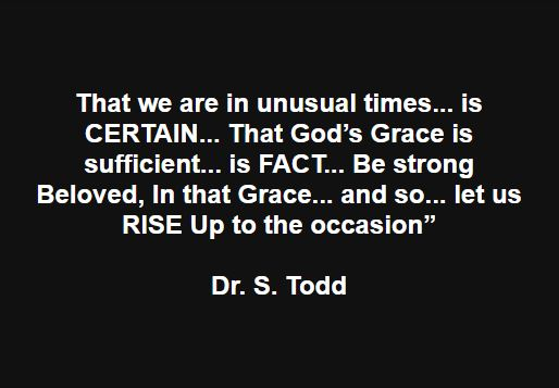 That God's Grace is sufficient